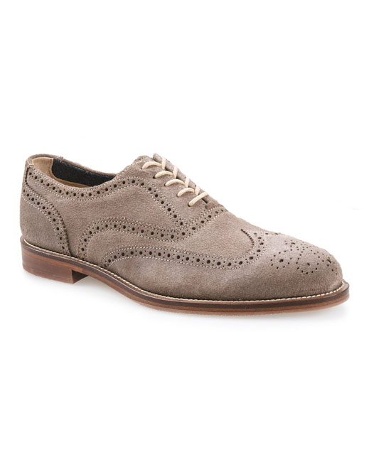 J Shoes Charlie Plus Leather Brogues (stone)
