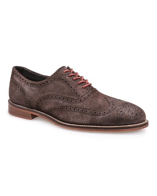 J Shoes Charlie Plus Leather Brogues (chocolate)
