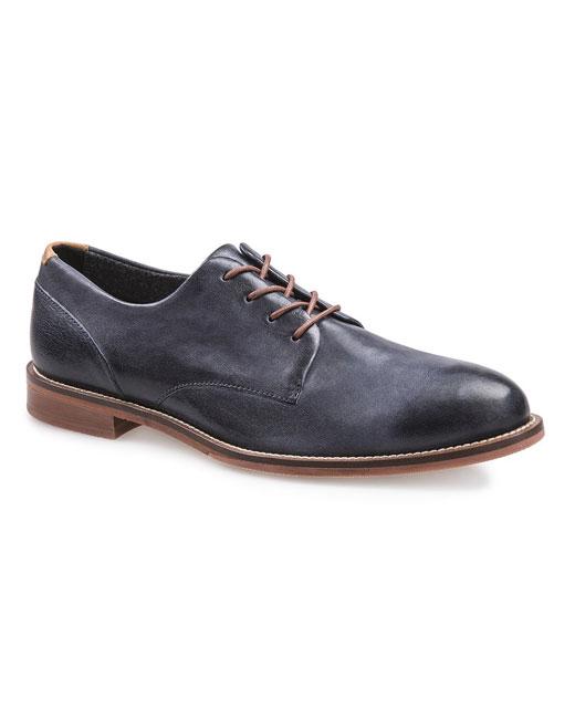 J Shoes William Leather Derby (dress blue)