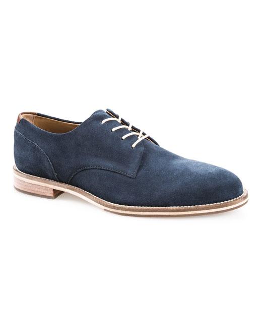 J Shoes William Suede Derby (ensign blue)