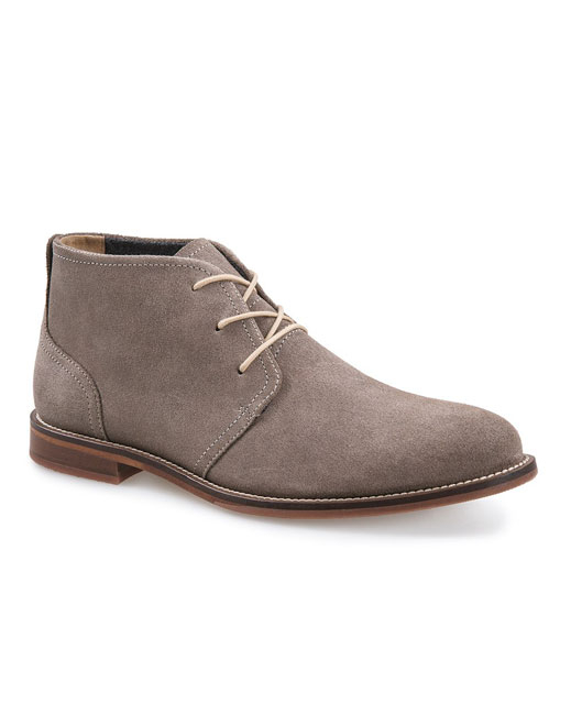 J Shoes Monarch Suede Leather Chukka Boot (stone)