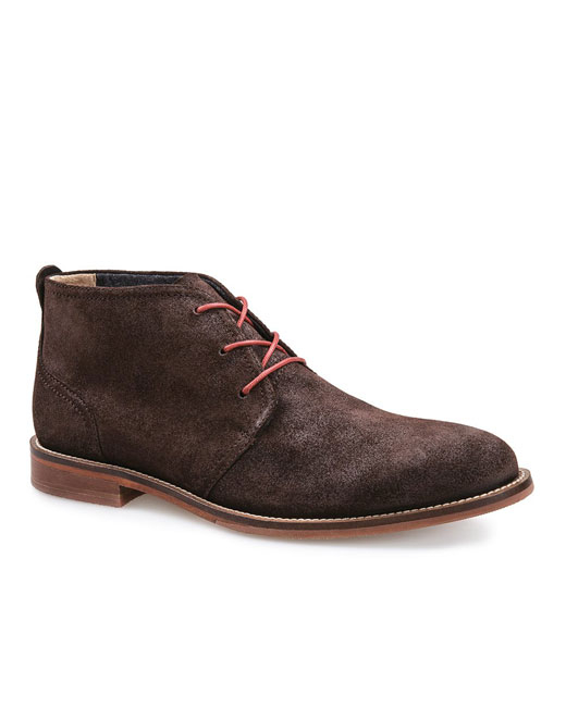 J Shoes Monarch Suede Leather Chukka Boot (chocolate)