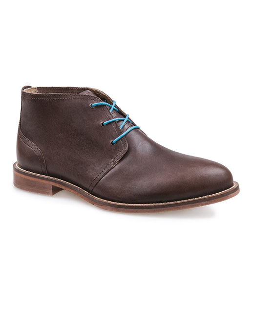 J Shoes Monarch Plus Leather Chukka (clyde dark brown)