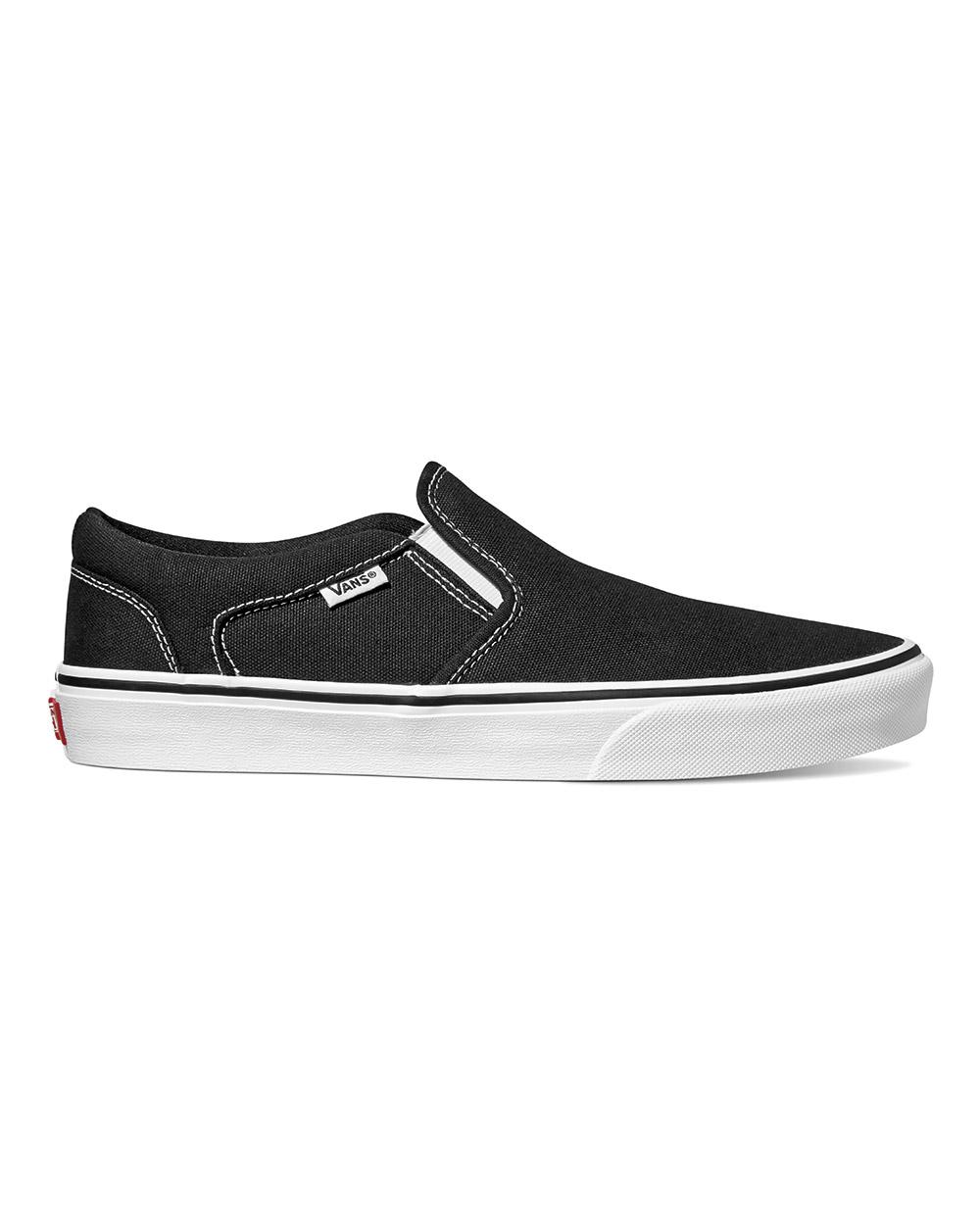black and white asher vans
