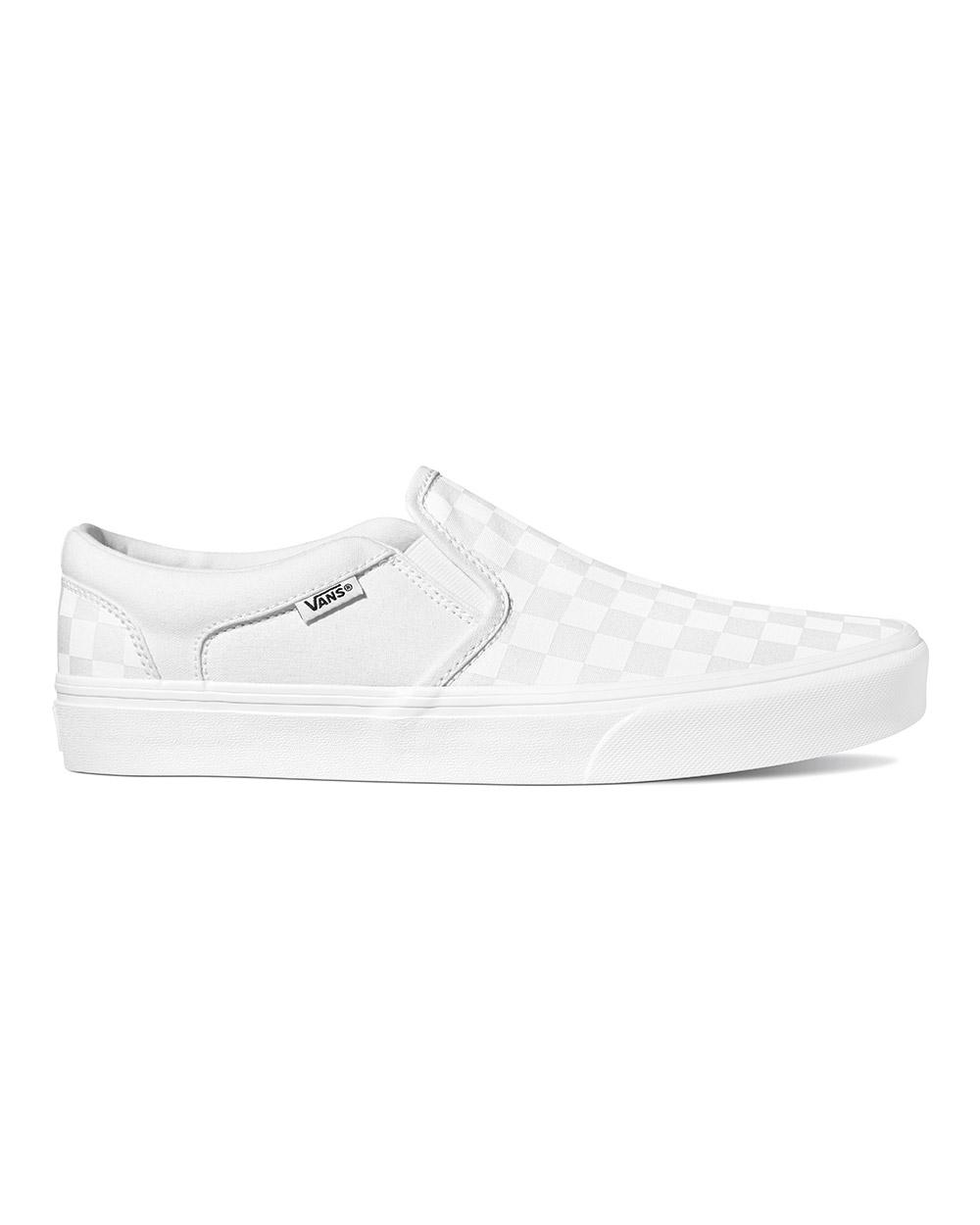Vans Asher Checkerboard (white/white