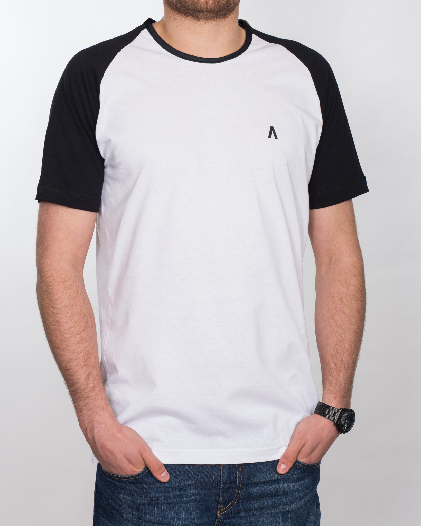 2t Raglan Tall T-Shirt (white/black)