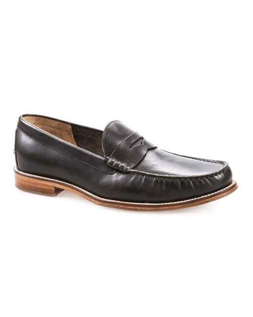 J Shoes Stephen Leather Loafer (clyde black)