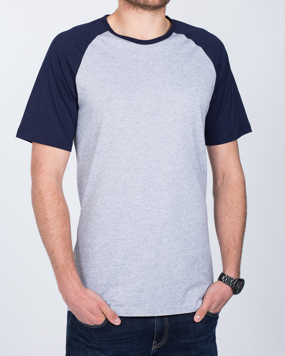 2t Raglan Tall T-Shirt (grey/navy)