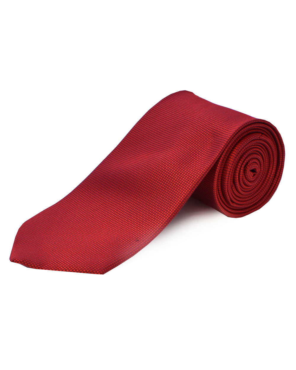 Double Two Silk Extra Long Tie (red)