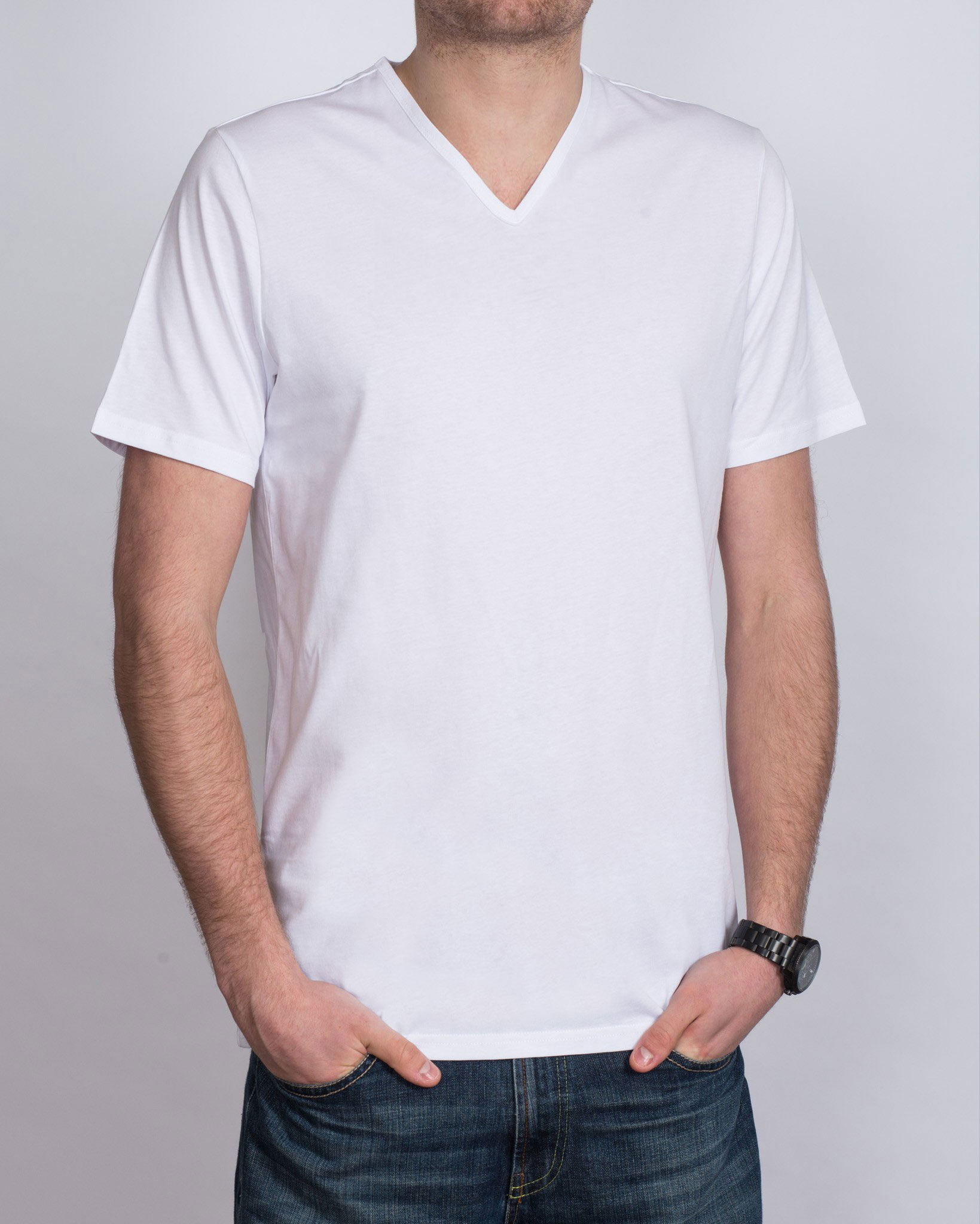 Girav Tall V-Neck (white) Twin Pack