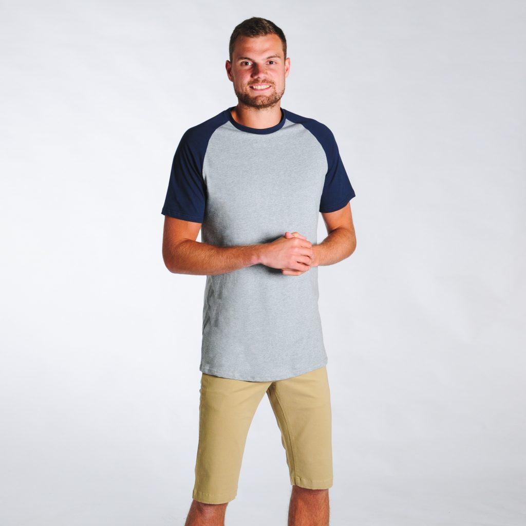 2t Tall Raglan T-Shirt (grey/navy)