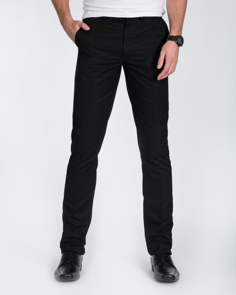 Carabou Slim Fit Tall Trousers (black)