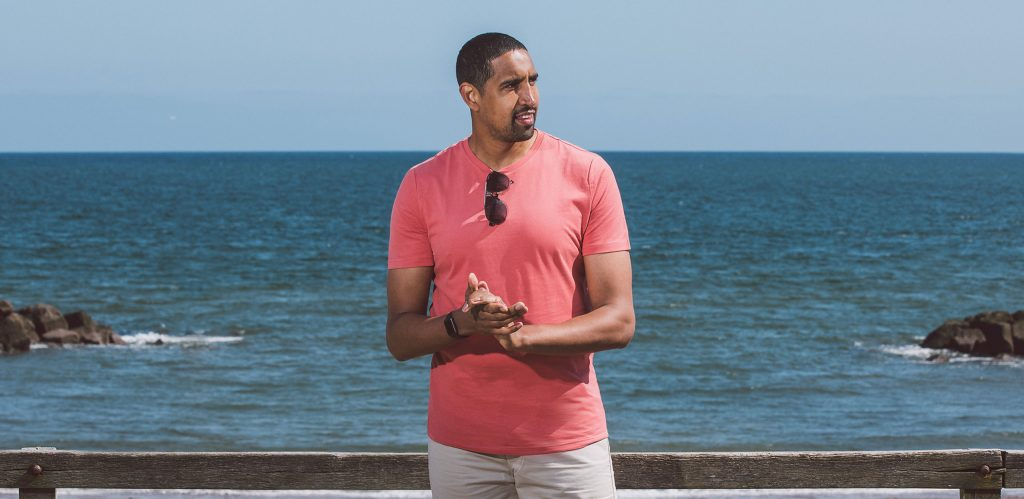 Check out our summer collection of extra long t-shirts, made for tall, slim men!